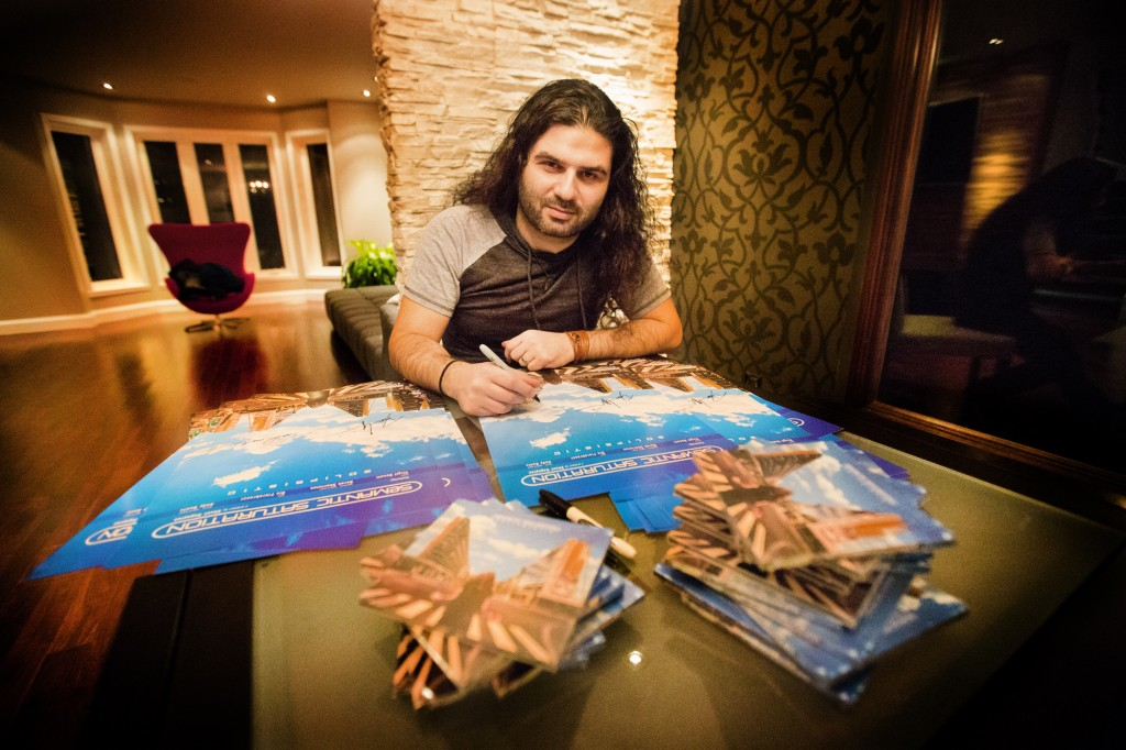 Shant signing Solipsistic posters