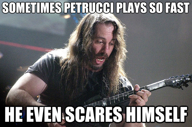 Petrucci scared of himself